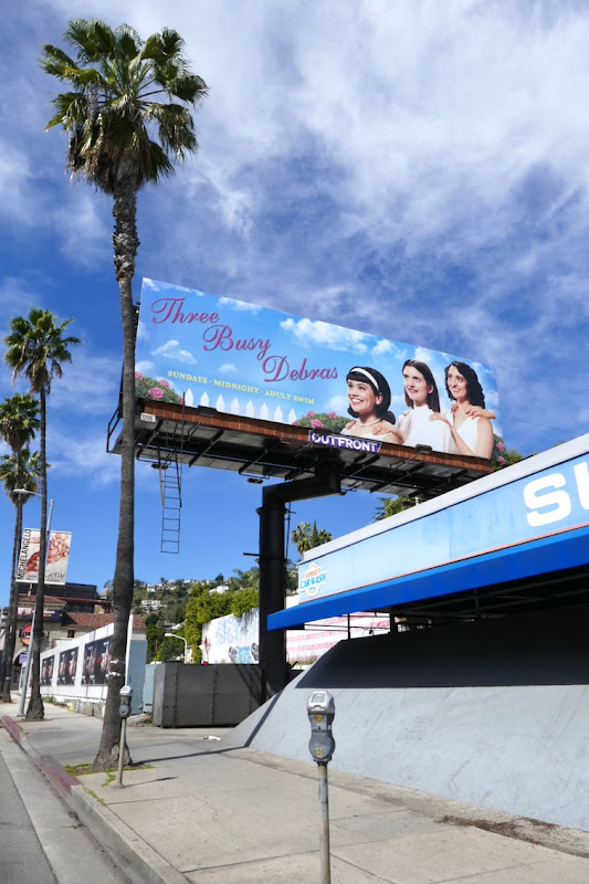 Three Busy Debras series launch billboard