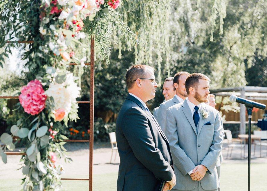 Floral Wedding Altar-Garden Wedding-Kiana Lodge-Something Minted Photography
