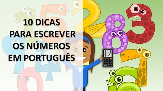 10 RECOMENDACIONES PARA ESCRIBIR LOS NÚMEROS EN PORTUGUÉS