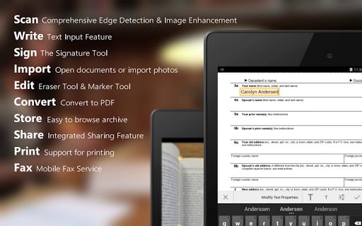 Download Aplikasi Android ScanWritr PRO scanner,PDF,editor