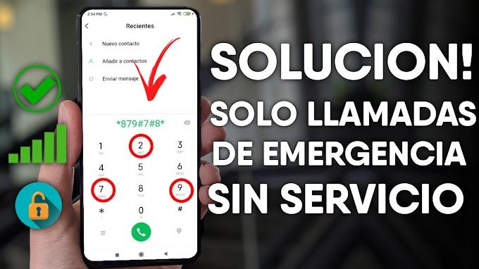 SOLUCION! MI TELEFONO SE LE CAE LA SEÑAL NO PUEDO HACER LLAMADAS