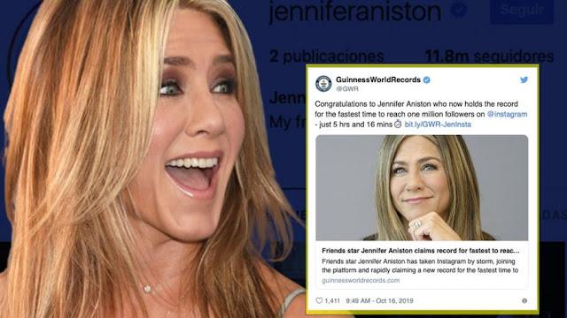 Jennifer Aniston: Récord Guiness gracias a su cuenta de Instagram