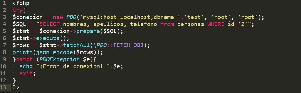 Llenar input HTML con Ajax