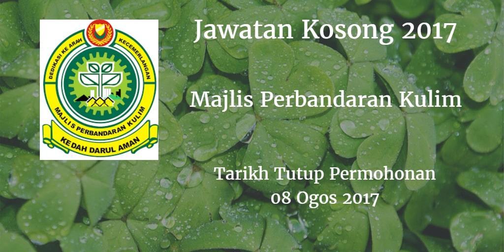 Jawatan Koosong MPKK 08 Ogos 2017