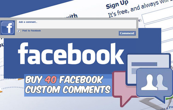 Buy 40 Facebook Custom Comments
