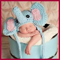 Gorro elefante a crochet