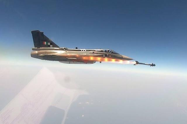 India LCA Tejas Python5 missile