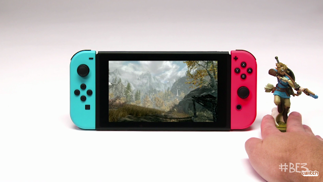 The Elder Scrolls 5 Skyrim Nintendo Switch Link amiibo Bethesda E3