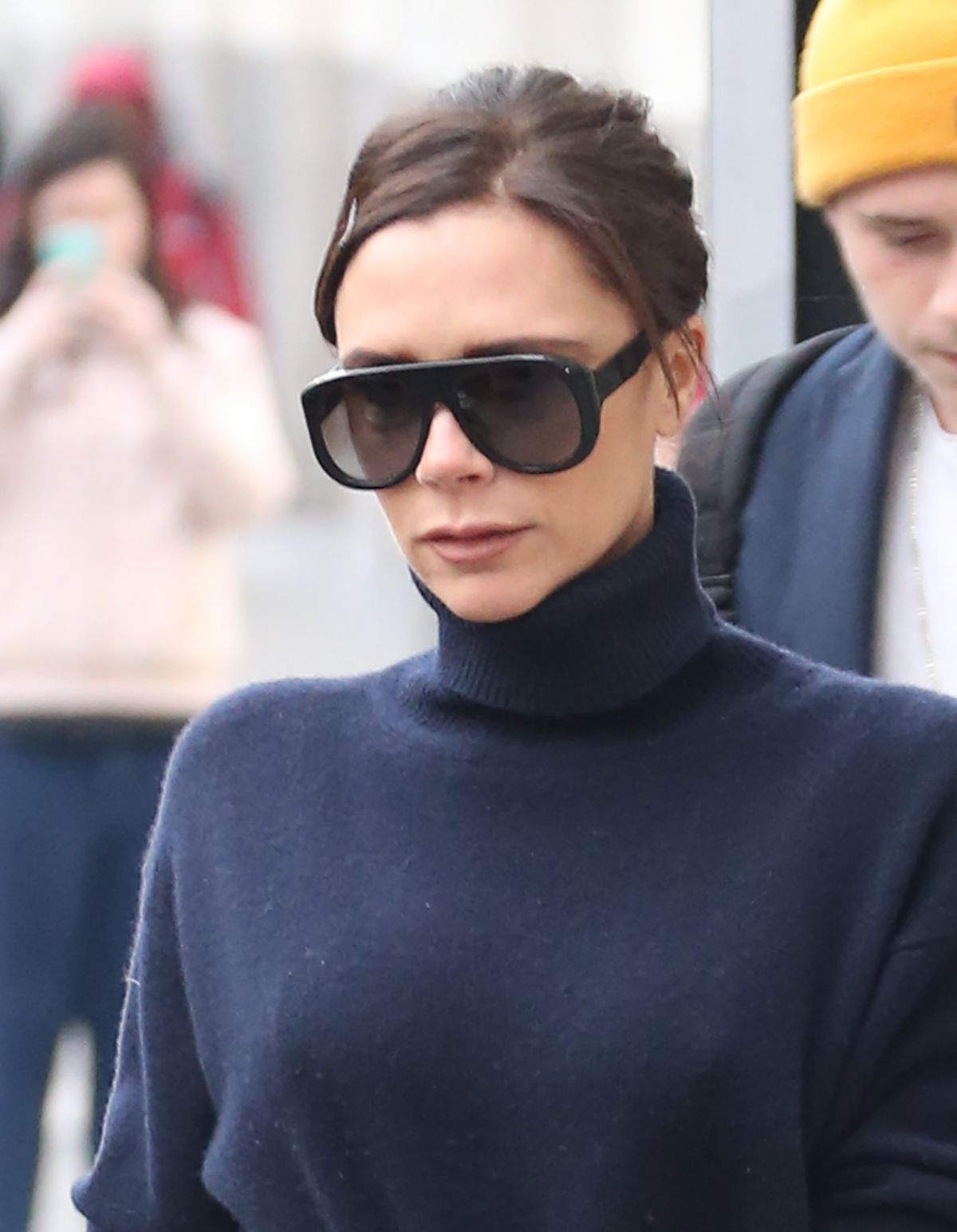 Victoria Beckham In Jeans Out In New York 2018