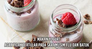 Makan Yogurt Agar tidak tertular pada saat musim flu dan batuk