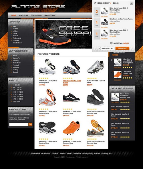 Run Time Footwear E-Store
