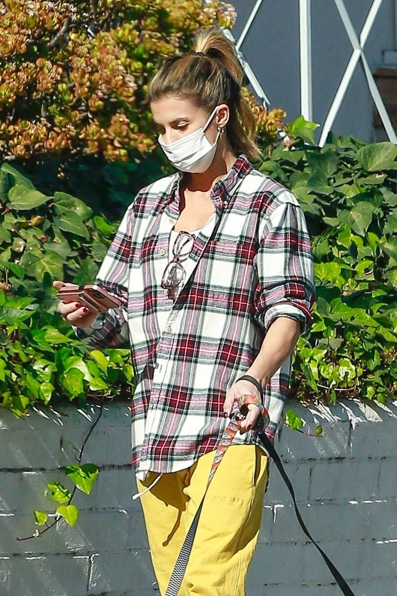 Elisabetta Canalis Out with Her Dogs in Beverly Hills  13 Dec-2020