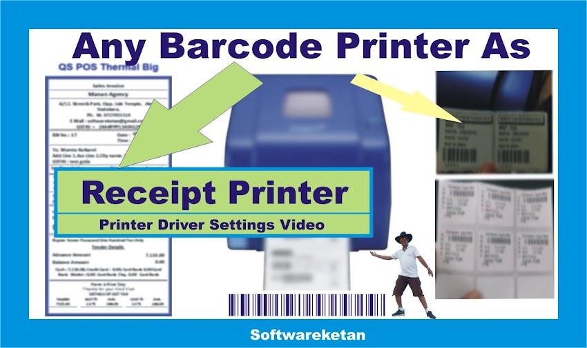 Barcode Printer as Bill Printer