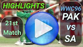 PAK vs SA 21st Match