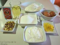 Bizcocho pistachos Receta paso a paso ingredientes