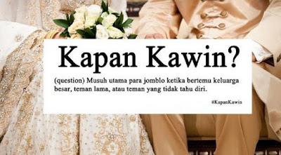 Jawaban Cerdas Pertanyaan Kapan Menikah Saat Lebaran