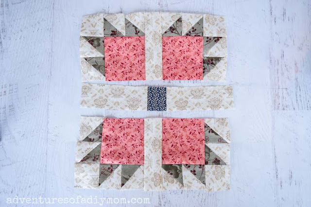 rows of the bear paw quilt block