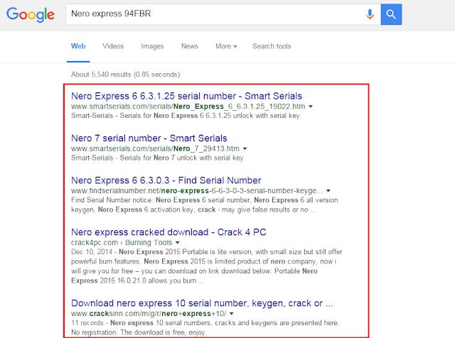 Nero EXpress Serial Number