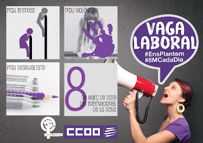 Cartell del 8 de març de CCOO de Catalunya