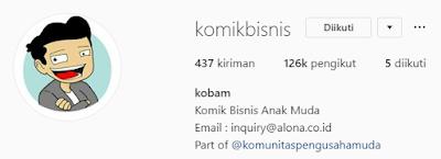 Akun Instagram bisnis bertema komik