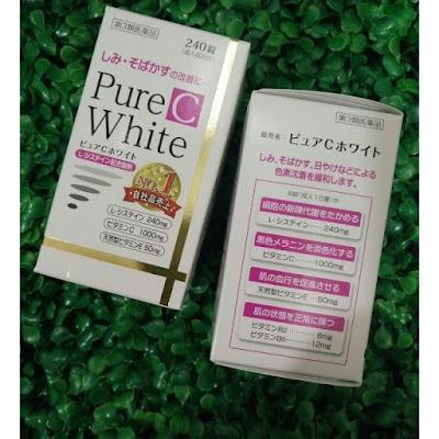 Cách sử dụng viên uống pure white c Nhật Bản