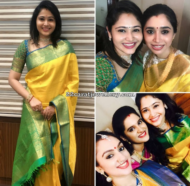 Priya Atlee Yellow Green Traditional Silk Saree