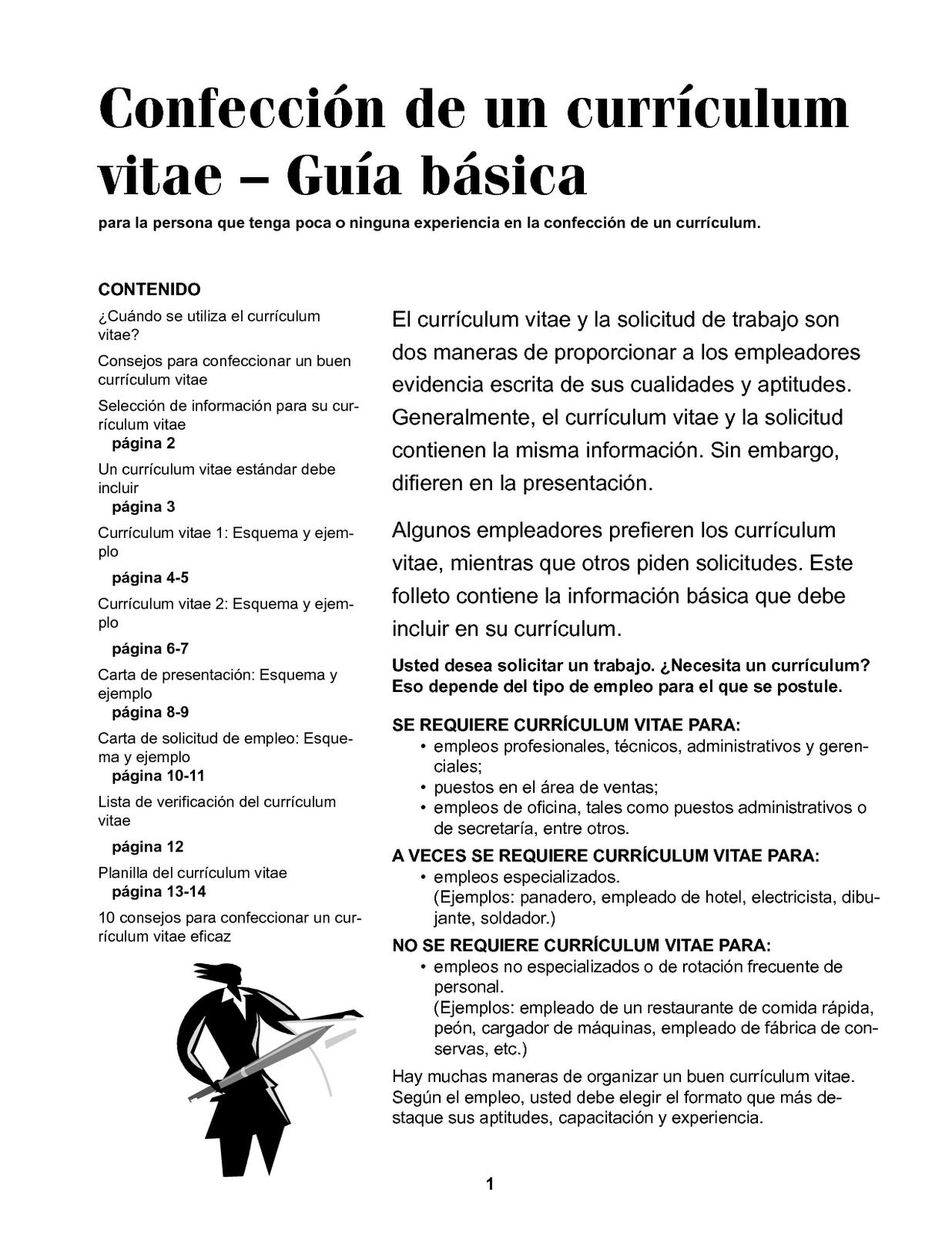 Ejemplos De Objetivos Para Curriculum Vitae