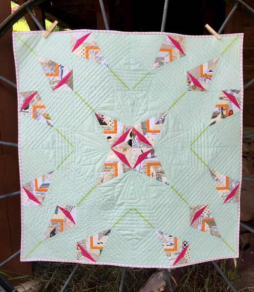 Scandinavian Leaf Paper Pieced Quilt designed by Penny Layman from We All Sew
