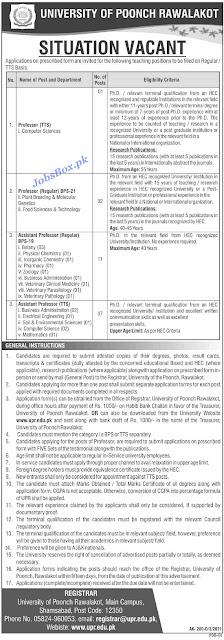university-of-poonch-rawalakot-jobs-2021-download-application-form