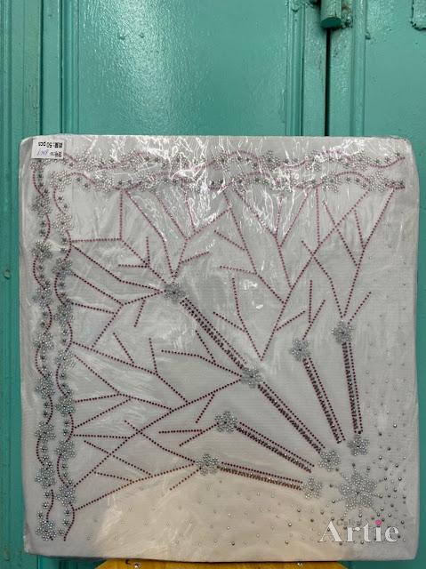 Hotfix stickers dmc rhinestone aplikasi tudung bawal fabrik pakaian bunga 2 baris maroon silver