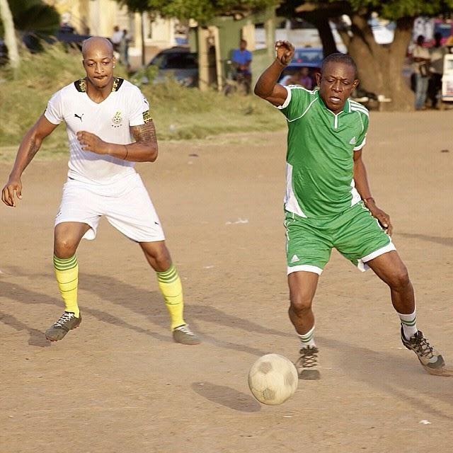 osuofia playing soccer ghana