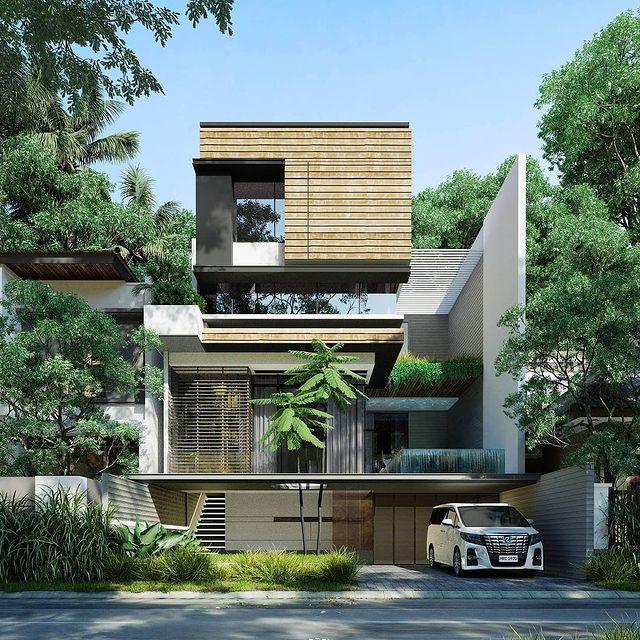 desain rumah minimalis ada tokonya