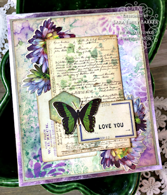 Sara Emily Barker https://sarascloset1.blogspot.com/2020/08/a-stenciled-mum-card-for-mom.html #stampersanonymous Mixed Media Card 1