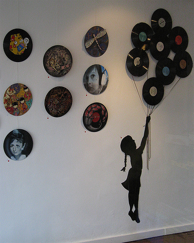 dishfunctional designs repurposed vinyl lp record album art