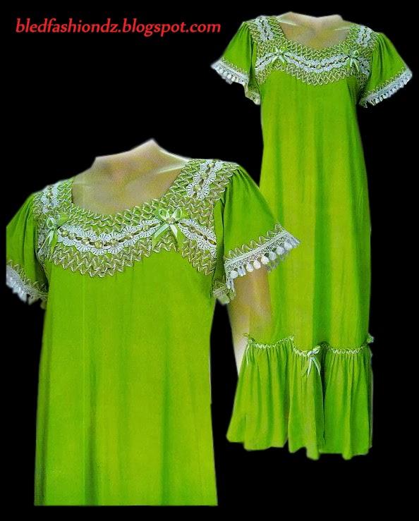 La Mode Algérienne Robe Interieure Vert