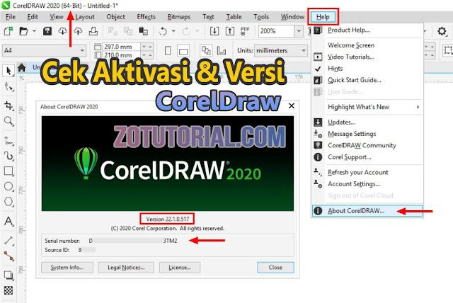Cara Mengetahui Lisensi CorelDraw Sudah Aktif atau Belum by zotutorial