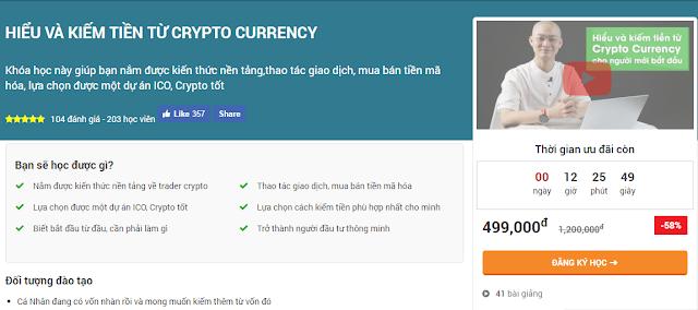 Chia sẻ khóa học Hiểu và kiếm tiền từ Crypto Currency cho người mới bắt đầu