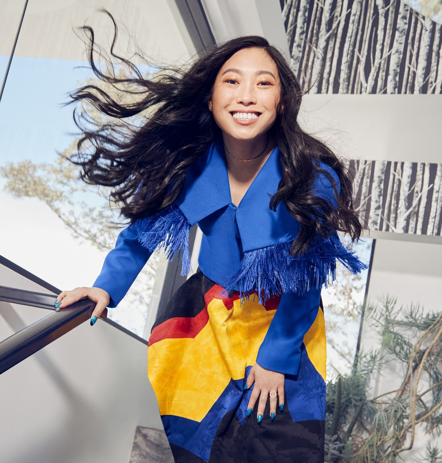 Awkwafina in Cosmo US September/Cosmo UK October 2021 by Mei Tao