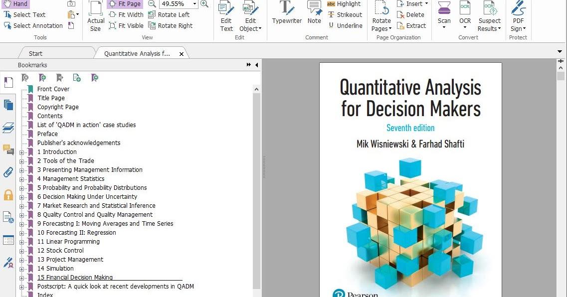 Quantitative Analysis for Decision Makers 7E Mik ...
