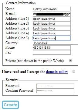 Mendaftarkan domain eu.org