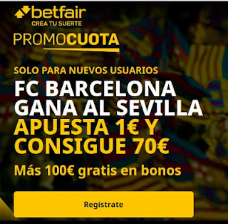 betfair promocuota Barcelona gana Sevilla 10 febrero 2021