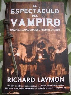 Portada del libro El espectáculo del vampiro, de Richard Laymon