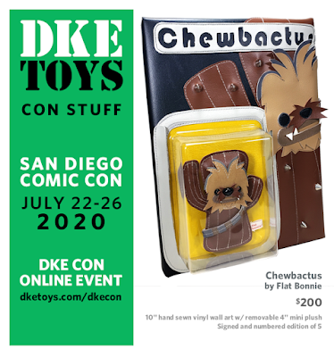 San Diego Comic-Con 2020 Exclusive Star Wars Chewbactus Plush by Flat Bonnie x DKE Toys