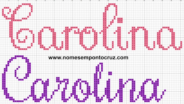 Nome Carolina em Ponto Cruz