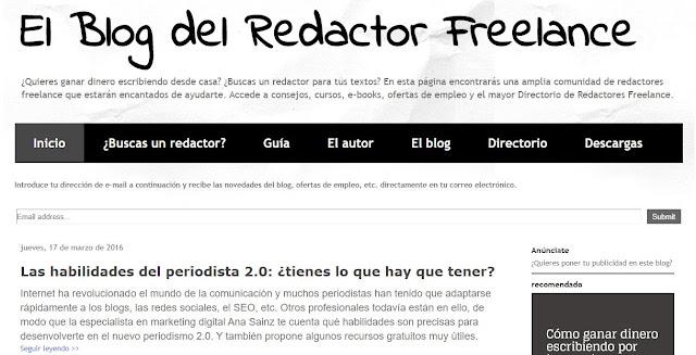 el blog del redactor freelance creación