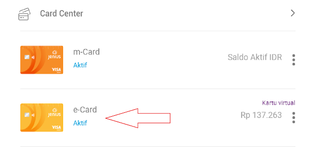 Kartu debit virtual