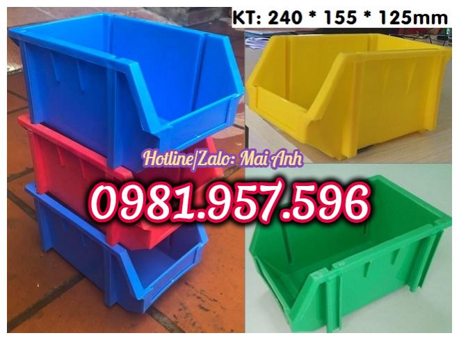 Khay nhựa chống tầng, hộp nhựa đựng linh kiện, khay nhựa A6
