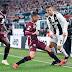 كريستيانو رونالدو ينقذ اليوفي من الخسارة ويسجل هدف التعادل في مرمي تورينو