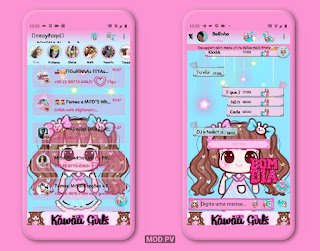 Anime Girl Theme For YOWhatsApp & Ra WhatsApp By Thaylane