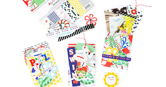FANCY PANTS DESIGNS: 3 ENVELOPES UISNG THE POOLSIDE COLLECTION
